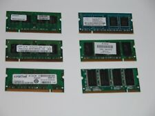 Assorted HP Crucial Samsung Simpletech 200 pin SODIMM's Memory Modules, 6 pcs