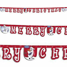 Disney's FROZEN Red Christmas OLAF Snowman Party Letter Banner Decoration