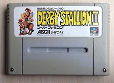 Nintendo Famicom DERBY STALLION II Game Cartridge NTSC SNES Japanese 1994 Retro