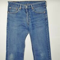 Levi's 505 W31 L32 blau blue Herren Men Designer Denim Jeans Hose Retro VTG Mode