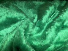 Bright Green Mid Pile Fur Fabric, Per Metre