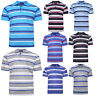 NEW MENS POLO SHIRT STRIPED UNISEX SHORT SLEEVE CASUAL WORK T SHIRT SIZE M – 2XL