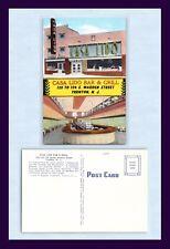 NEW JERSEY TRENTON CASA LIDO BAR & GRILL LINEN ADVERTISING POSTCARD CIRCA 1940