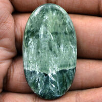 Cts. 41.30 Natural Russian Seraphinite Cabochon Oval Cab Loose Gemstone