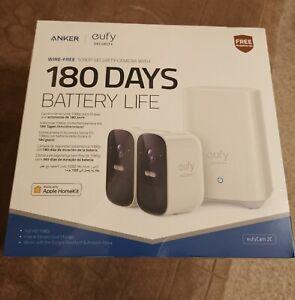 eufy eufyCam 1080P 2C Wireless Home Security Cameras,180 Days Battery, 2 cam kit