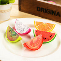 2Pcs Kids Cute Fruit 5.5cm Length Student Stationery Plastic Pencil Sharpener