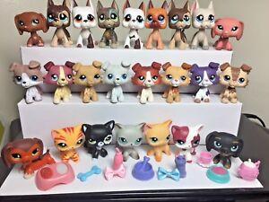 Littlest Pet Shop LPS Collie #363 Cat #391 Great Dane Dog 3 Random 2 Accessories