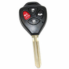 Remote Uncut 4 Buttons Key Shell FOB for Toyota Corolla 2007  2008  2009  2010