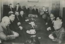 Kremlin, Prime Minister Nehru and Khrushchev Vintage silver print Tirage argen