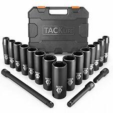 """Tacklife 1/2"""" unidad Master profundo impacto Socket Set, métrica, CR-V, 6 puntos, hazlo tú mismo"""