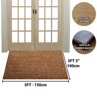1M x 1.5M INDUSTRIAL COIR MAT NATURAL ANTI SLIP PVC BACKED ENTRANCE DOORWAY MATS
