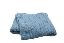 Scene Weaver Divine Cable Knit Throw Blanket, Forget Me Not Blue