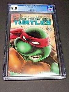 Teenage Mutant Ninja Turtles #5 Extremely Rare 2nd Print Graded CGC 9.8 White Pg