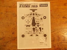 RD- Illustrated Parts Breakdown & Parts List - Kyosho Turbo Raider