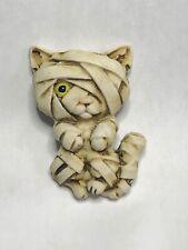 Harmony Kingdom ArtIst Neil Eyre Designs Halloween kitty cat Mummy kitten magnet