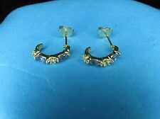 Exquisite Hook Gold Earrings 14K Solid Gold genuine Tanzanite Topaz Stones