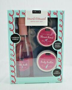Hallu Escape by Peyton-Uncork & Unwind Bubble Bath Shower Mothers Day Gift Set