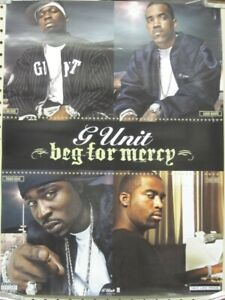 G UNIT 2003 50 CENT LLOYD BANKS  Beg For Mercy Promo Poster New Old Stock