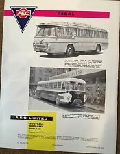 AEC BUS LK brochure BUS TRUCK S LORRY benz LAK 60 italian job mini cooper