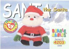 Ty Beanie Babies Bboc Card - Series 2 Common - Santa the Santa - Nm/Mint