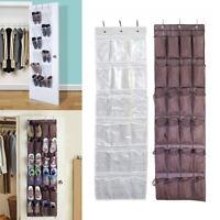 24 poches claires porte suspendue sac à chaussures rack rangement organisateur