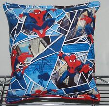 Spider-Man Pillow, Handmade in USA, Marvel, Spider Man, Mirror, Pillow, Web Rare