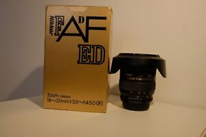 Nikon Zoom AF Nikkor 18-35mm f/3.5-4.5 D ED (IF). Fully working with box.
