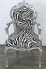Barocco Dining-chair armlehnstuhl con ANIMAL-PRINT imbottitura ZEBRA POLTRONA BAROCCO