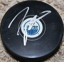 Taylor Hall signed Edmonton Oilers Puck COA