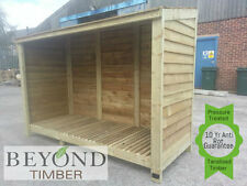 Extra Large Heavy Duty Pressure Treated Wooden Log Store - TOP QUALITY