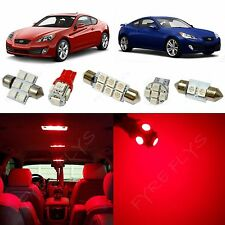 8x Red LED lights interior package kit 2010 & Up Hyundai Genesis Coupe YG1R
