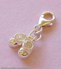 Baby Booties Bootees Shoes Clip on Charm STERLING SILVER
