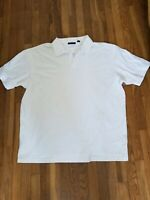 Perry Ellis Men's Polo Shirt White Size 3XL