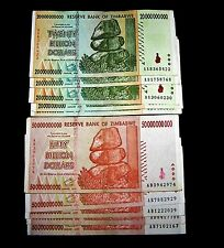 10 x Zimbabwe-5 x 20 & 5 x 50 Billion Dollars-paper money currency / 2008 series