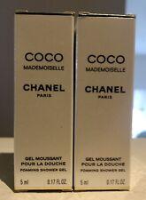 Lot Of 2 Chanel Coco Mademoiselle .17Fl Oz/5ML Travel Foaming Shower Gel NIB