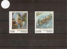 Greenland 1998 SG342-3 2v NHM Greenland Art (2nd)-Hans Lynge-10th Death Anniv.