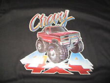 Vintage Hanes Label - 1984 CHEVY 4x4 Plate MAD1 Iron-On  (LG) T-Shirt