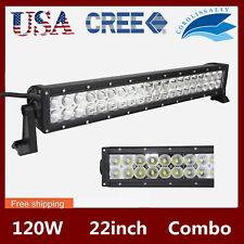 21INCH 120W CREE LED LIGHT BAR FLOOD SPOT DRIVING LAMP BOAT TRUCK 6000K 20/22''