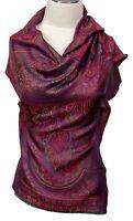 Schal 100% Seide multicolor Paisley silk scarf foulard écharpe soie sciarpa sete