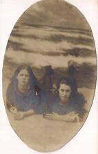 Victorian Swimsuit Fashion Girls In Arcade Setting Ocean Waves Antique Photos