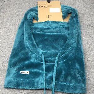 Burton Women's Cora Soft Fleece Hood Green Blue Slate, One Size