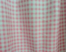 Pink Grid Cotton Fabric 160x100cm,for diy bedding,curtain,tableloth,clothing