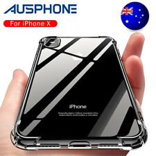 NEW Shockproof Tough iPhone 8 / 7 Plus X Hard Gel Clear Case Cover for Apple OZ