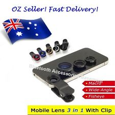 Detachable 3 in 1 Lens Kit for iPhone, Samsung Galaxy, Note, HTC)