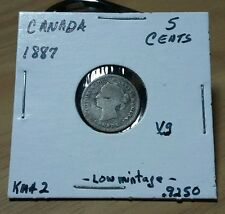 Canada 1887 rare 5 cents VG condition km#2 only  500,000 made Look & did buy it!