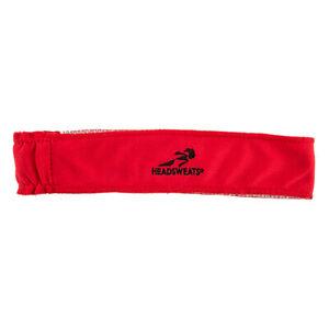 RED HEADBAND HEADSWEATS TOPLESS COOLMAX CYCLING RUNNING HEAD BAND SWEATBAND