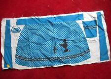 """Vtg 50'S Cotton Print Fabric Half Apron Uncut New Poodle 36x18"""""""