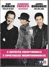 COFFRET 3 DVD ZONE 2--3 SPECTACLES--GAD ELMALEH + FLORENCE FORESTI + JAMEL--NEUF