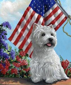 WESTIE WHWT SUMMER GARDEN FLAG FREE SHIP USA