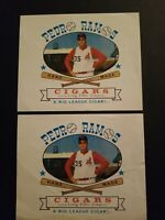 Vintage Pedro Ramos Hand Made Cigars Box Label 7x8in Lot of 2